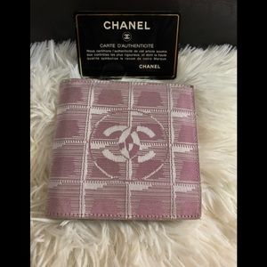 CHANEL Travel line bifold wallet